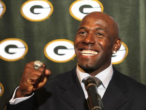 Donald Driver - The Green Bay Packers WR Donald Driver. Driver is showing off his Super Bowl ring!