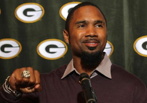 Charles Woodson - Green Bay Packers cornerback Charles Woodson,showing off his Super Bowl ring.
