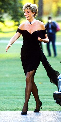 Little Black dress - Princess Diana's little black dress in a double wow! It was sassy and it made a bold statement!