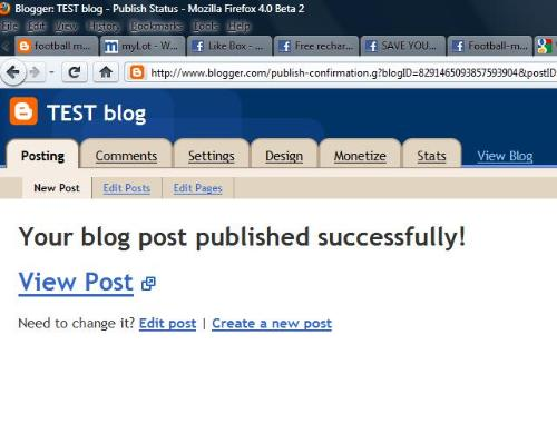 blog post - bolg posting working fine..there is no error