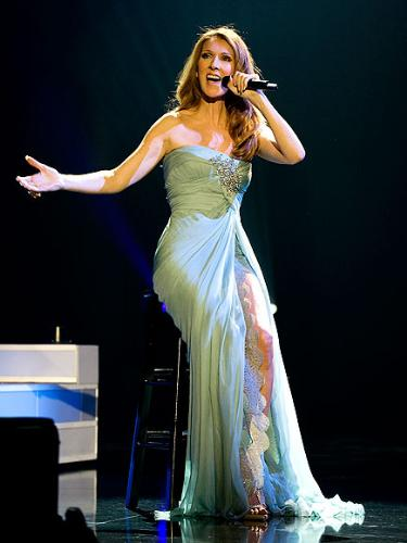 Another dress - Celine wearing a slie-saab dress in her vegas show.