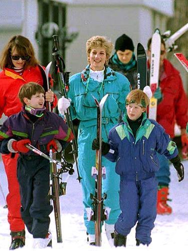 Princess Diana - Princesss Diana made sure her boys did alot of stuff like other people,like skiing.