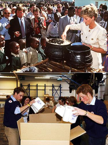 She taught her sons well - Harry and William learned to be good samaritians like their mom was!