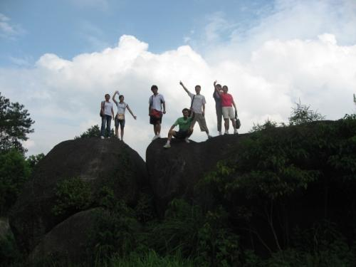 standing on the top of the mountain - we standing on the top of the mountain,a happy day again with my friends