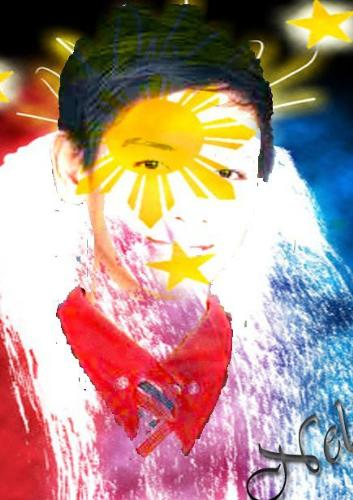 My profile Picture - This Picture was made by Arnel Mangahas by using Adobe Photoshop cs5 as for the celebration of the Independence day.