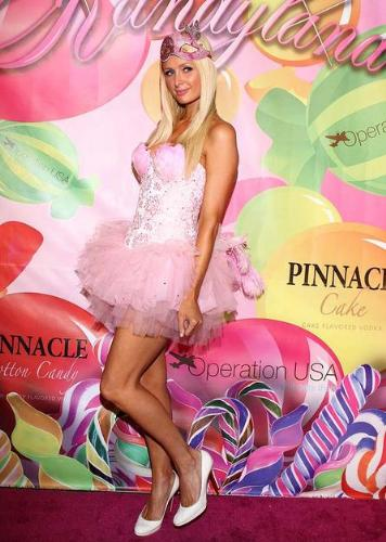 Paris Hilton - Paris looks ridiculous in this ballerina outfit! She goofed again!