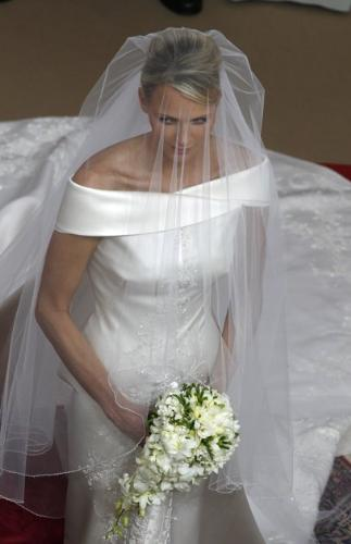 Princess Charlene - The New Princess of Monoco. Over the weekend she married Prince Albert. Her wedding dress was designed by Armani.