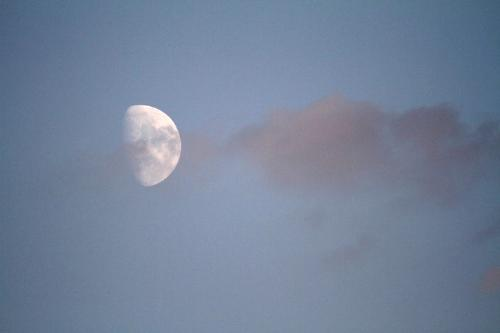 The moon - Moon and clouds