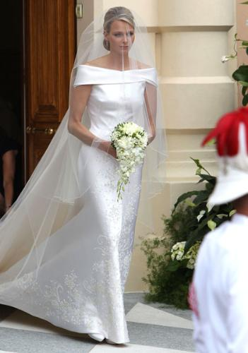 Princess Charlene - She wore a wedding gown designed bu Armani. Very lovely bride!