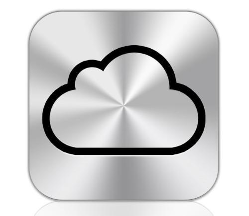 icloud - logo of Apple`s icloud service