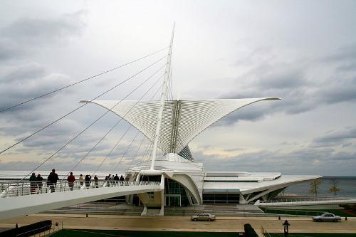 Art Museum - The Milwaukee Art Museum in Milwaukee,Wisconsin.