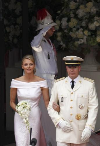 Monoco's royal wedding - Never thought Prince Albert would never get married but he did! He is now married to Princess Charlene!