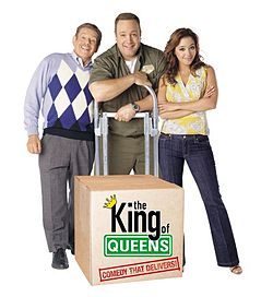King of Queens - It starred Kevine James as Doug. His wife Carrie was played by Leah Remi and Carrie's dad was played by Jerry Stiller.