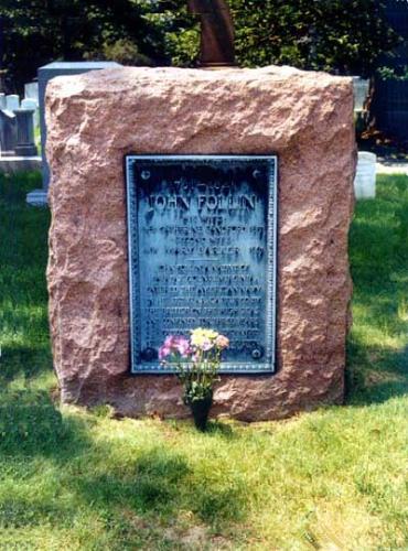 John Follin - John Follin's grave stone.