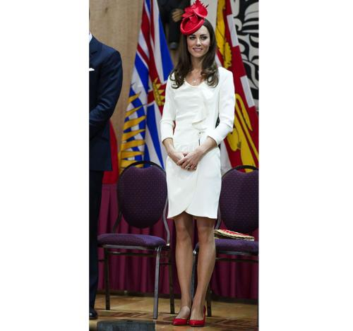 Kate Middleton - I didn't care for the style of the hat but I did like her dress!