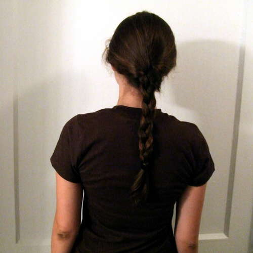 Braided hair - easy to pull...