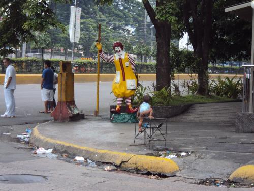 Over Population problem or Responsible Parenthood? - This was taken during one morning in the streets of Cebu City, Philippines.