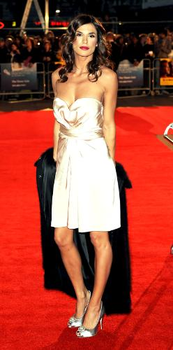 Elisabetta Canalis - This is one pretty dress she is wearing here!