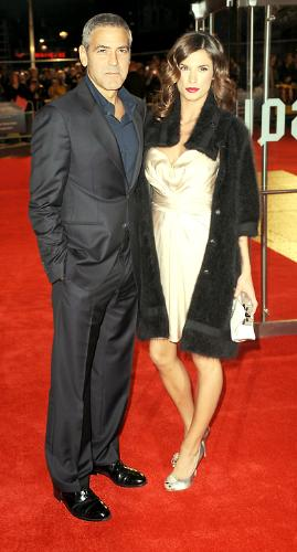 With george this time - Elsabetta had an ugly coat over her pretty dress! Ugh! No complainats with George!