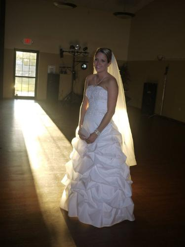Her wedding day - My friend Sarah got married on 7/2/2011. I loved her dress!