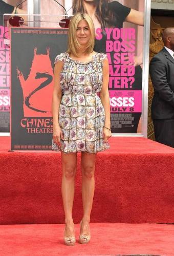 Jennifer Aniston - Jennifer's dress looks frumpy on her! One of her few fasion mistakes she's worn!