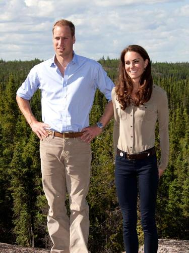 Kate Middleton - Kate and William while they were touring Canada.