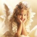 Happiness of Freedom - An angelic beauty enjoying free thinking.
