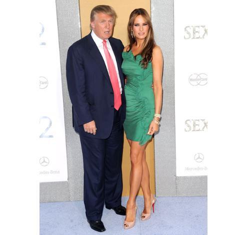 The Trumps - Donald Trump with his third wife Melania Knauss-Trump.