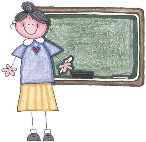 teacher in front of a chalk board - Teacher
