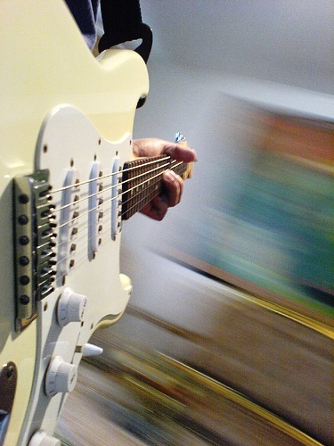 guitar - guitar playing while doing photography.