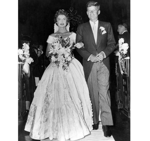 A Kennedy Wedding - This is a wedding photo from John Kennedy and Jackie Kennedy's wedding.