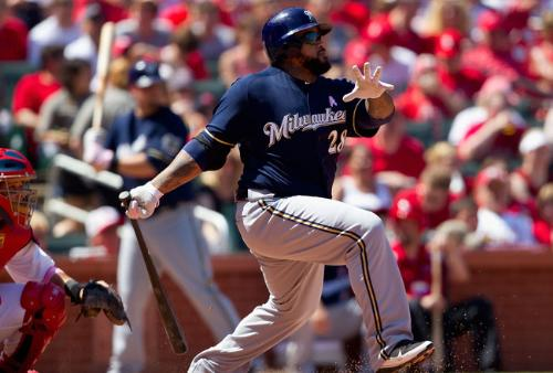 Prince Fielder - Prince hitting a home run for the Brewers! He hit one tonight in the All-Star Game!