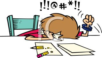 Frustrated student - Students can get really frustrated if they can't understand their work.