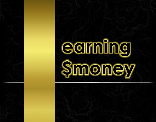 Elegant Earning - Earning with elegance. Created from scratch with gimp.