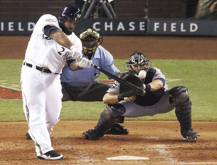 mvp!!! - Prince Fielder hitting his home run last night at the All-Star game last night! A Brewer first!