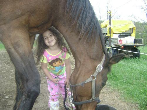 So sweet! - A girl and her horse! AWW!