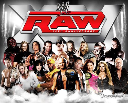 wwe - wwe raw 15th anniversary