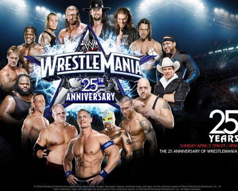 wwe - wwe wrestlemania 25th anniversary