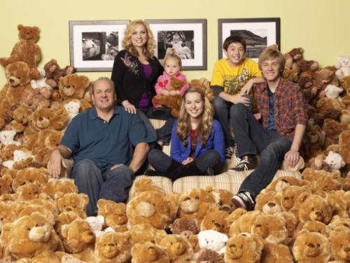 Good Luck Charlie - It is a Disney comedy about a family with 4 kids. Ages 2,11,16 and 18. The oldest daughter keeps a video diary for her little sister,Charlie. At the end of each video sister Teddy ends by says 'Good Luck Charlie'! It is a cute show!