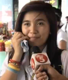 pretty d*mb i guess.. - not only that she forgot her manners when being interviewed... she's a student by the way.