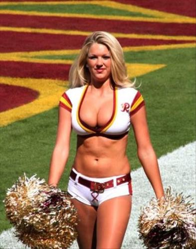 Cheerleader - A cheerleader for the Washington Redskins.