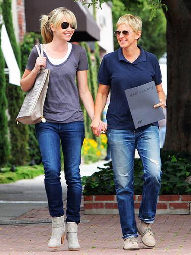 Portia and Ellen  - Portia de Rossi with her wife Ellen Degeneres.