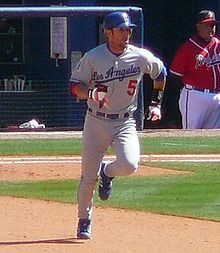 Nomar Garciaparra - Nomar when he was an LA Dodger. He is married to Mia Ham and they have twin girls.