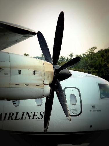 palne - airplane on the ground