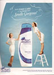 Head and shoulders shampoo. - It is a branded shampoo, used to clear dandruff from head and shoulders.