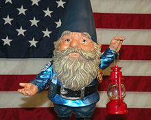 Gnome - Gnomes are lawn decorations and are also mythical beings of folk lore.