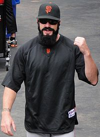 Brian Wilson - Brian Wilosn the closer for the San Farncisco Giants. I wonder how long he'll grow his beard before he trims it or shaves it? The guy is crazy!