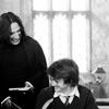 Alan & Daniel - Icon - 100x100 - Alan Rickman & Daniel Radcliffe laugh during a break
