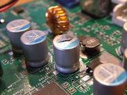 Blown video card capacitor.. - Blown video card capacitor
