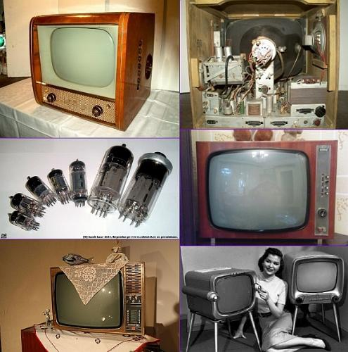 television sets - old black & white tv sets